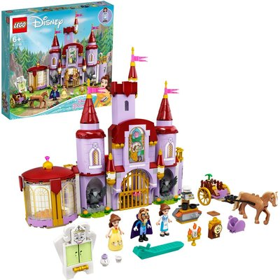 LEGO Disney Belle and the Beast's Castle Building Toy 43196