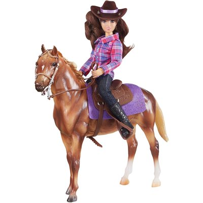 Breyer Classics West Horse & Rider