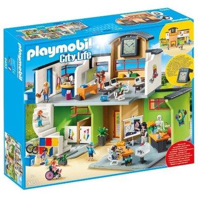 Playmobil Furnished School Building with Digital Clock