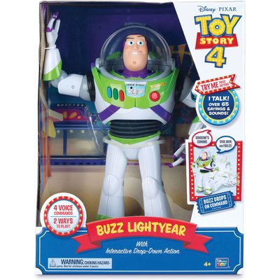 Toy Story 4 Buzz Lightyear Interactive Drop-Down Action