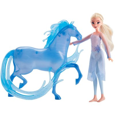 Disney Frozen 2 Elsa Fashion Doll and Nokk Figure Inspired b