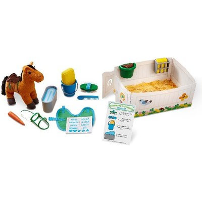 Melissa & Doug Horse Care Play Set - Feed and Groom