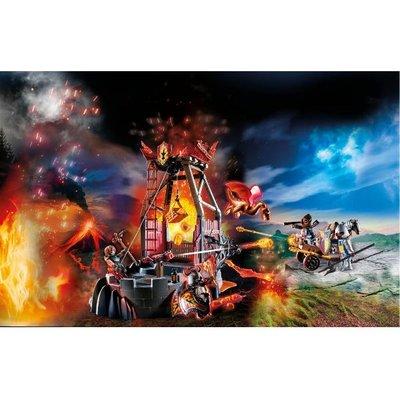 Playmobil 70390 Novelmore Knights Burnham Raiders Lava Mine with Fire Launchers