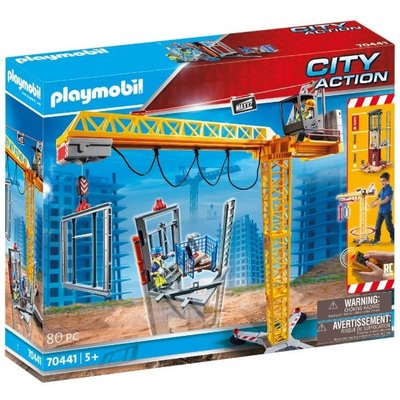 Playmobil 70441 City Action Construction Crane with Remote Control
