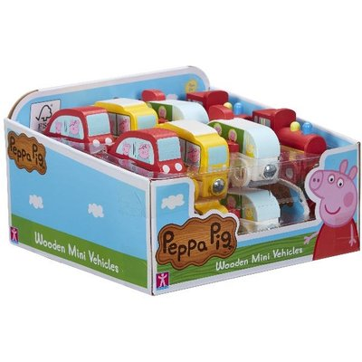 Peppa Pig Wooden Mini Vehicles