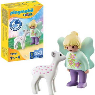 Playmobil 1.2.3 70402 Fairy Friend with Fawn For 18+ Months