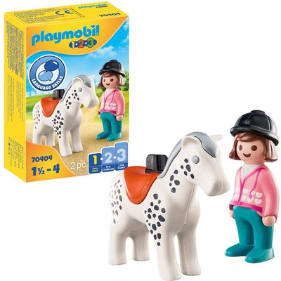 Playmobil 1.2.3 70404 Rider with Horse For 18+ Months