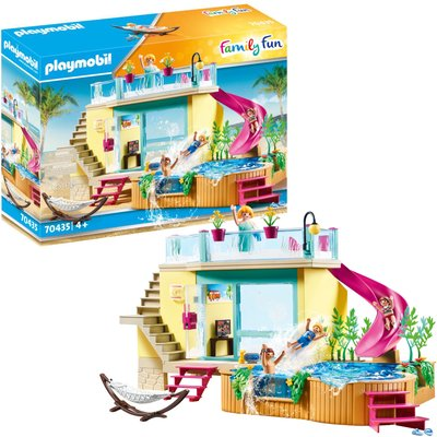 Playmobil 70435 Family Fun Beach Hotel Bungalow with Pool