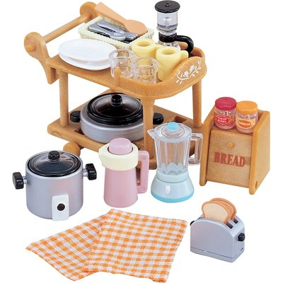 Sylvanian Families Kitchen Cookware & Trolley Set