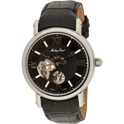 Mathey-Tissot Gent's Automatic Watch with Skeleton Dial and Genuine Leather Strap with Luxury Box