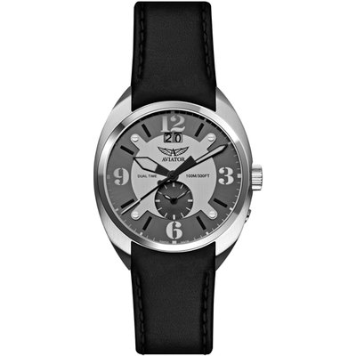 Aviator Swift Gent's MIG GMT 2nd Time Zone Dial with Interchangeable Strap