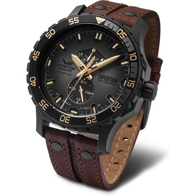 Vostok Europe Gent's Expedition Everest Underground PVD Automatic Watch with Interchangeable Straps,