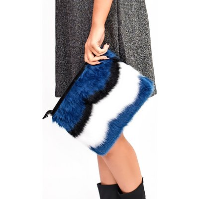 IKRUSH Womens Alexia Faux Fur Shoulder Bag