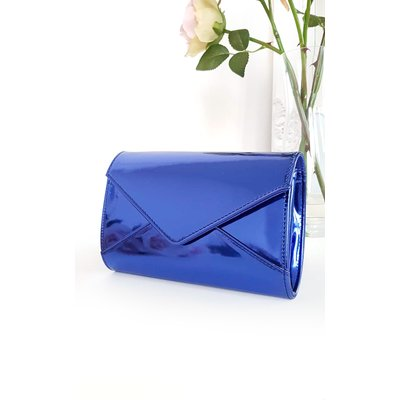 IKRUSH Womens Amel Metallic Envelope Clutch Bag