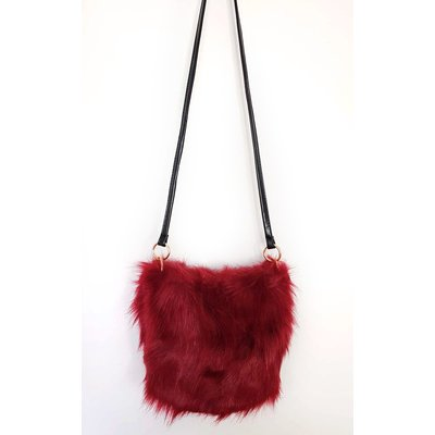IKRUSH Womens Ava Faux Fur Shoulder Bag