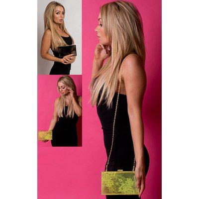 IKRUSH Womens Nylah Floral Clear Clutch Bag