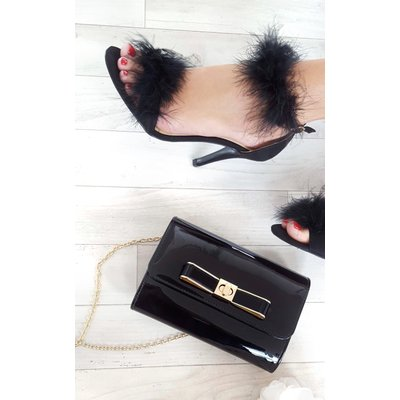 IKRUSH Womens Nadia Metallic Bow Detail Clutch Bag