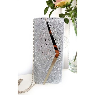IKRUSH Womens Dionne Sequin Clasp Clutch Bag