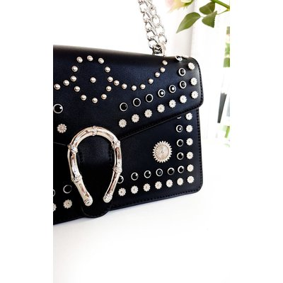 IKRUSH Womens Lina Studded Buckle Shoulder Bag