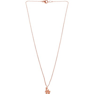 LA State Chain Necklace In Rose Gold