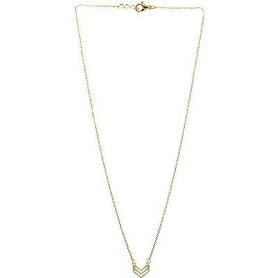 Arrow Shaped Chain Necklace in Gold