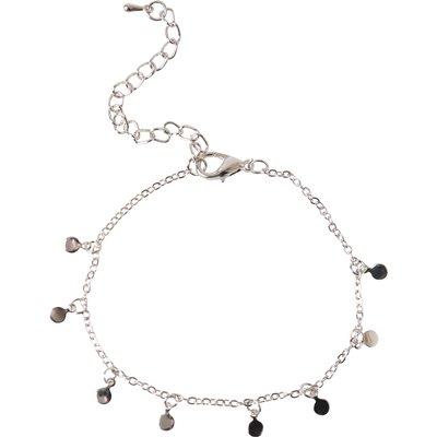 Island Girl Delicate Circle Chain Ankle Bracelet In Silver