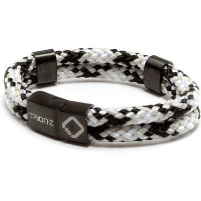 Zen Loop Duo Ionic/Magnetic Bracelet, Black/Silver/Grey