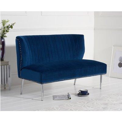 Lena Blue Velvet Love Seat Sofa