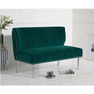 Lena Green Velvet Love Seat Sofa