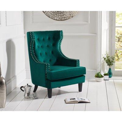Penelope Green Velvet Accent Chair
