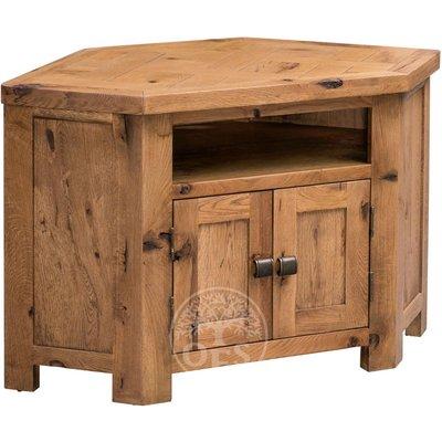 Huari Oak Corner TV Cabinet