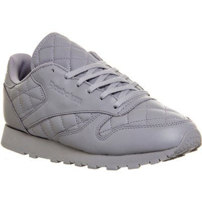 Reebok Classic Leather (w) PURPLE FOG QUILTED,White,Pink