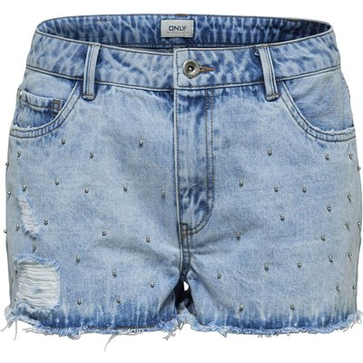 ONLY ONLY Divine Stud Jeansshorts Damen Blau