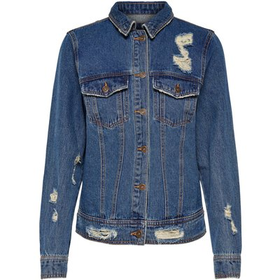 ONLY ONLY Stickerei Jeansjacke Damen Blau