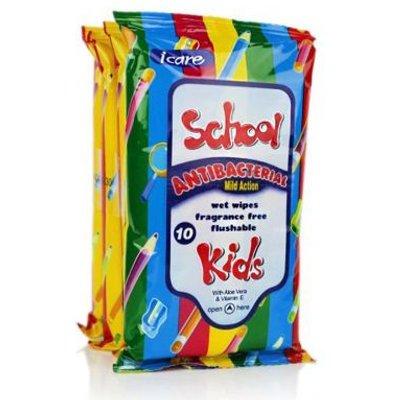 Kids Antibacterial Wipes 4 Pack
