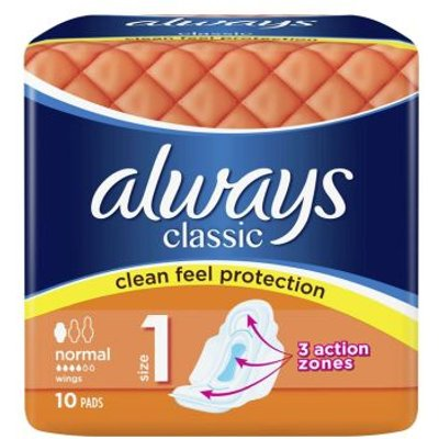 Always Classic Normal Sanitary Towels 10 Pack