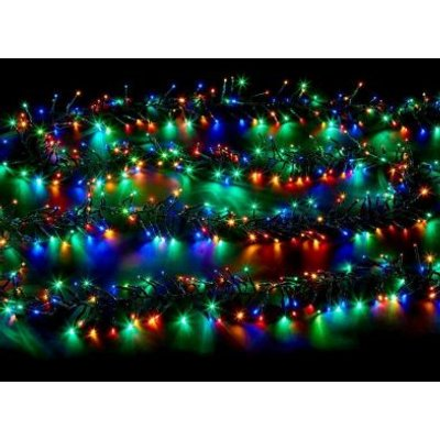 Outdoor Animated Cluster Fairy Lights 2000 Multicolour LED Mains 16m