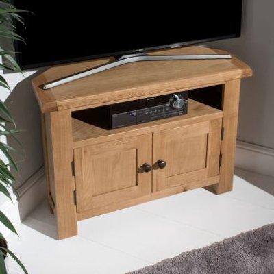 Cotswold Corner TV Unit Oak 2 Door 1 Shelf