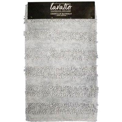 Cotton Chenille Bathmat Beige