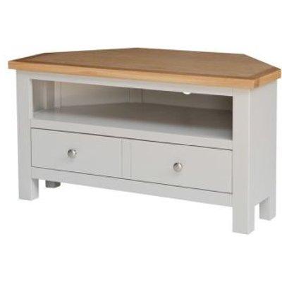 Lucerne Oak Grey 1 Drawer Corner TV Unit