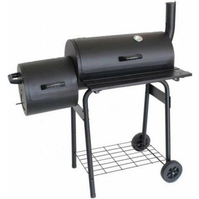 Smoker Drum BBQ With Side Shelves
