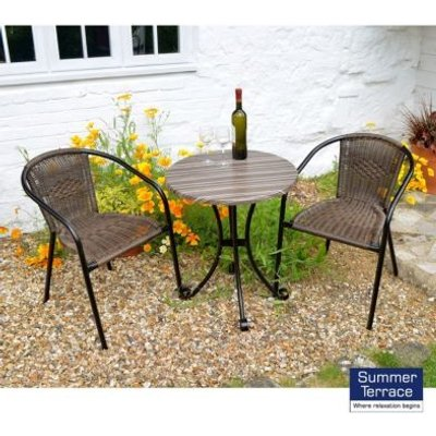Kalmar Garden Furniture Bistro Set & 2 Chairs