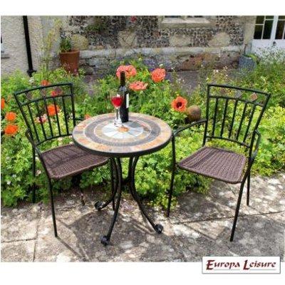 Villena Garden Bistro Set & 2 Malaga Chairs