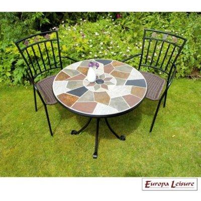 Pompei Garden Bistro Set & 2 Malaga Chairs