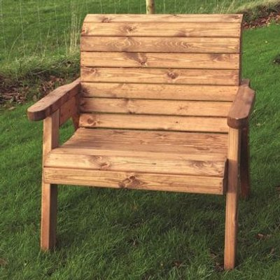 Large Scandinavian Redwood Extra Wide Garden Chair