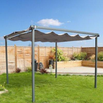 3m x 3m Garden Patio Canopy Gazebo - Grey