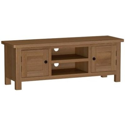 Rutland Oak Large TV Unit Rustic