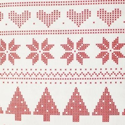 Christmas PEVA Tablecloth - Red White Pixels 50 x70