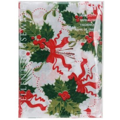 Christmas Tablecloth - Red Ribbon