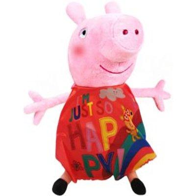 Plush Peppa Pig I'm Just So Happy